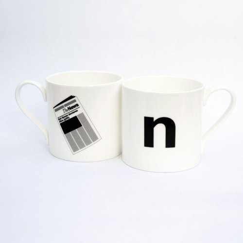 N IS FOR NEWSPAPER MUG