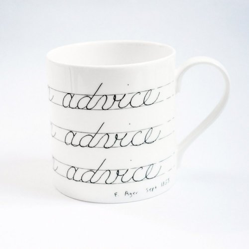 NEVER SCORN ADVICE MUG