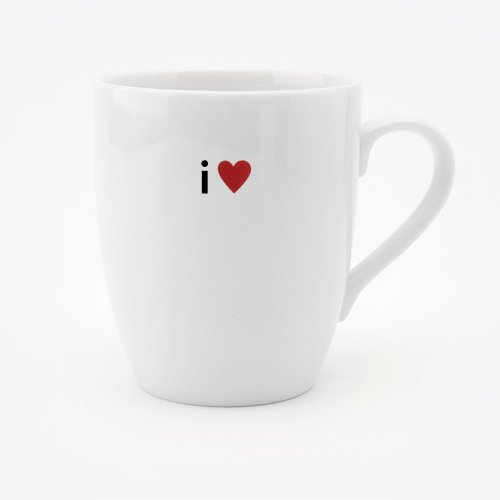 I HEART CLASSIC WHITE BONE CHINA MUG