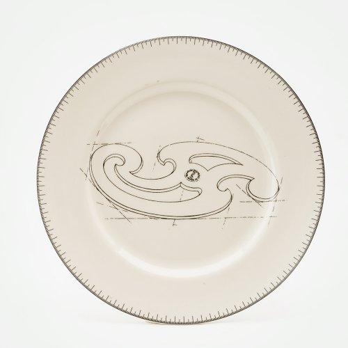 FRENCH CURVE DINNER PLATE