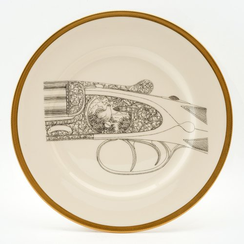 GROUSE 22CT GOLD SERVING PLATE