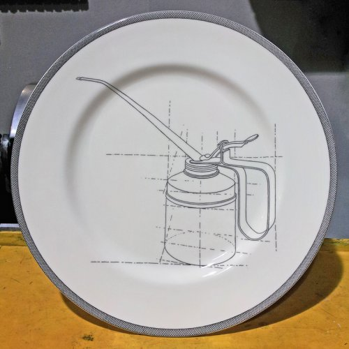 SALE! OIL CAN DINNER PLATE