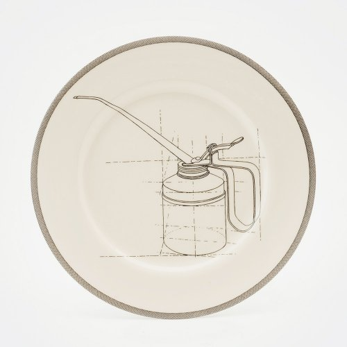 OIL CAN DINNER PLATE