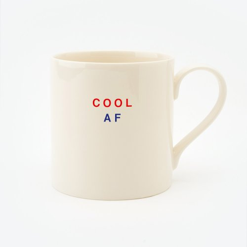 RED, CREAM & BLUE COOL AF STRAIGHT MUG
