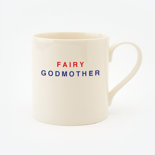 RED, CREAM & BLUE FAIRY GODMOTHER STRAIGHT MUG