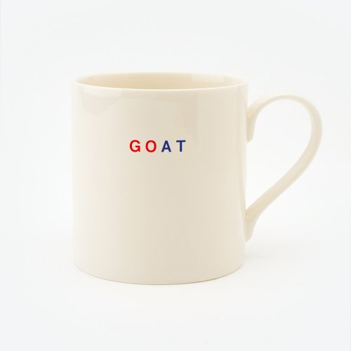 RED, CREAM & BLUE GOAT STRAIGHT MUG