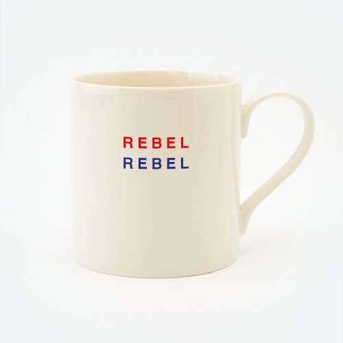 RED, CREAM & BLUE REBEL REBEL STRAIGHT MUG