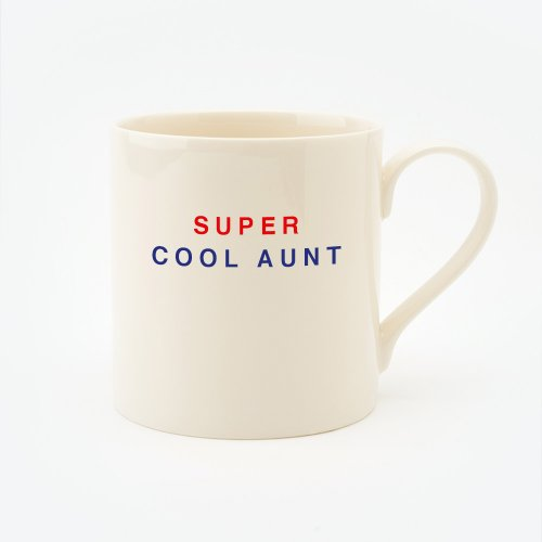 RED, CREAM & BLUE SUPER COOL AUNT STRAIGHT MUG