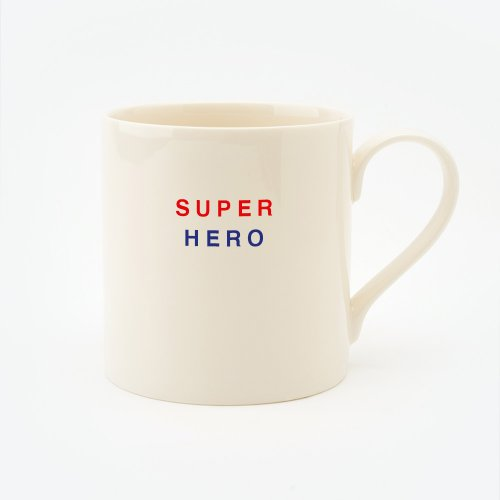 RED, CREAM & BLUE SUPER HERO STRAIGHT MUG