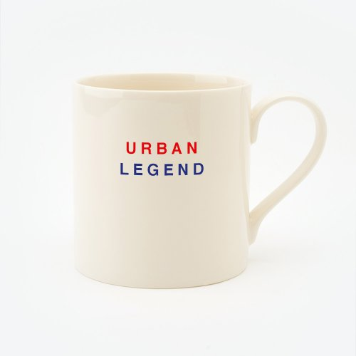 RED, CREAM & BLUE URBAN LEGEND STRAIGHT MUG
