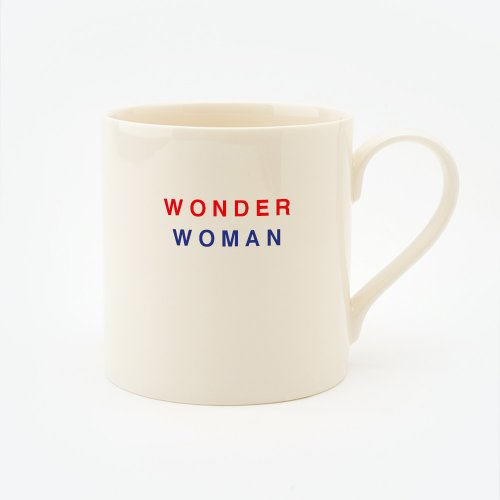 RED, CREAM & BLUE WONDER WOMAN STRAIGHT MUG