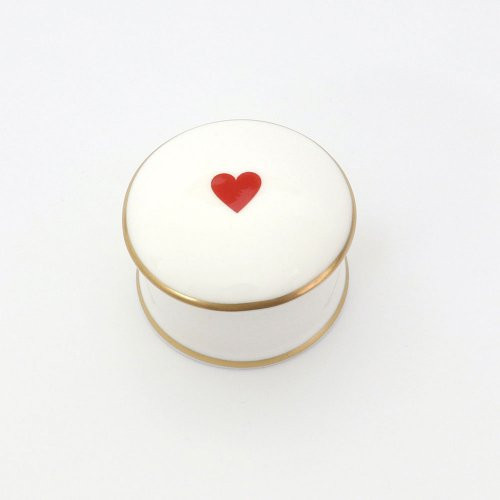 RED HEART TRINKET BOX