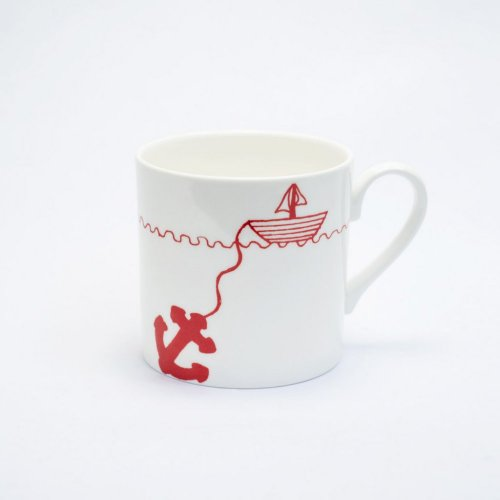 RED HELLO SAILOR MUG
