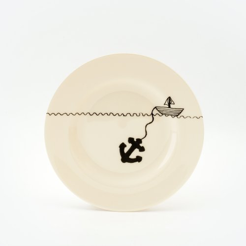 BLACK HELLO SAILOR SIDE PLATE