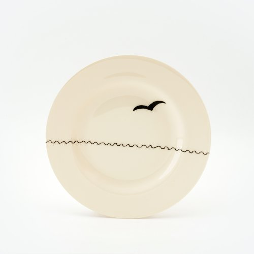 BLACK SEAGULL SIDE PLATE