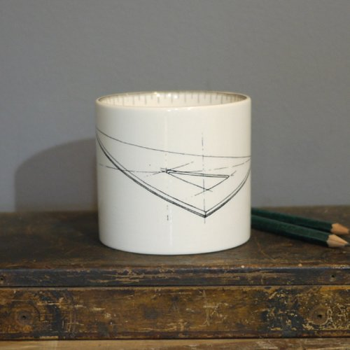 SALE! SET SQUARE SMALL PEN POT