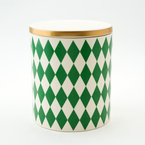 GLORIA DECORATIVE STORAGE JAR GREEN