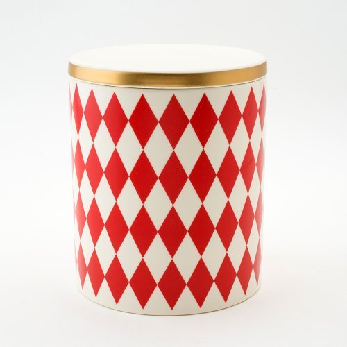 GLORIA DECORATIVE STORAGE JAR RED
