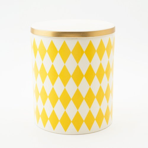 GLORIA DECORATIVE STORAGE JAR YELLOW