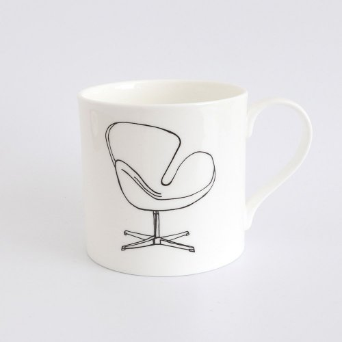SWAN CHAIR BY ARNE JACOBSEN HALF PINT MUG