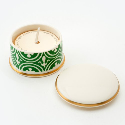FLEUR DE LYS GREEN 'REQUIEM' TRAVEL CANDLE