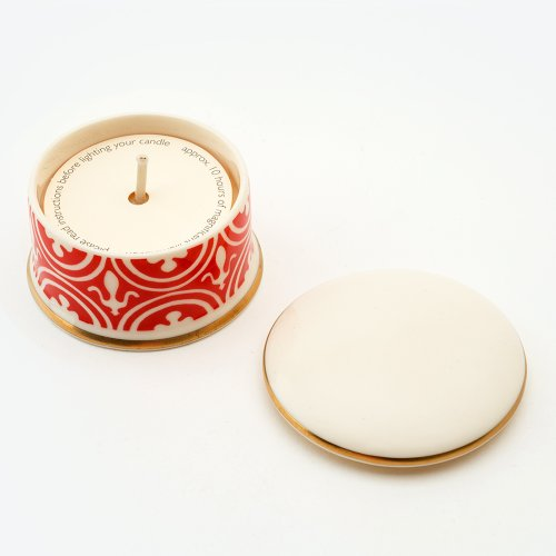 FLEUR DE LYS VERMILLION 'SHAME' TRAVEL CANDLE
