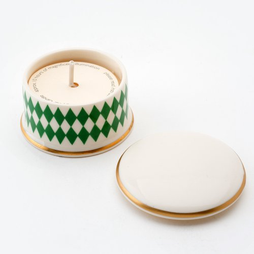 HARLEQUIN GREEN 'REQUIEM' TRAVEL CANDLE