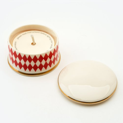 HARLEQUIN VERMILLION 'SHAME' TRAVEL CANDLE