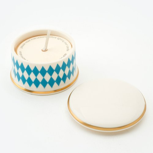 HARLEQUIN TURQUOISE 'BESOTTED' TRAVEL CANDLE