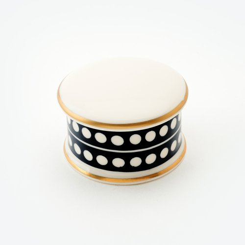 CIRCLE BLACK TRINKET BOX