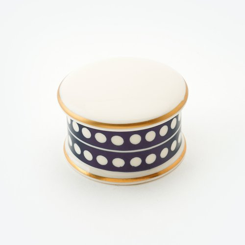 CIRCLE MIDNIGHT BLUE TRINKET BOX