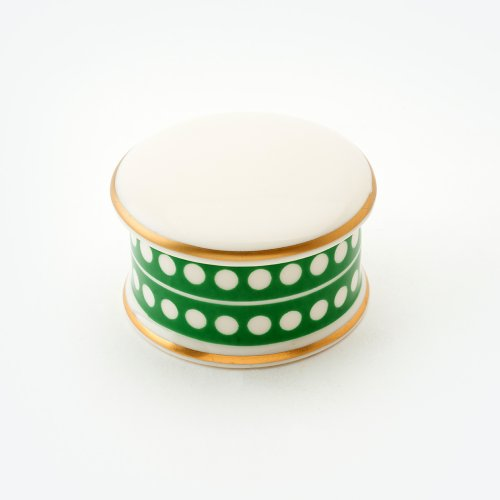 CIRCLE GREEN TRINKET BOX