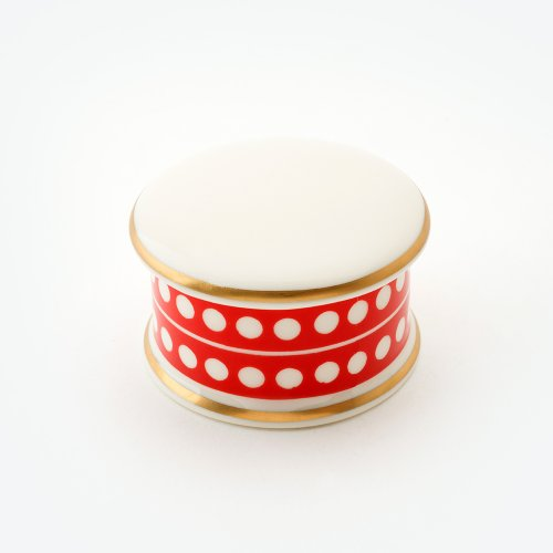 CIRCLE RED TRINKET BOX