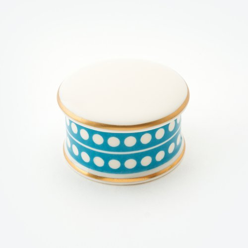 CIRCLE TURQUOISE TRINKET BOX