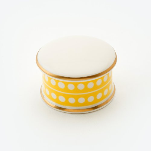 CIRCLE YELLOW TRINKET BOX