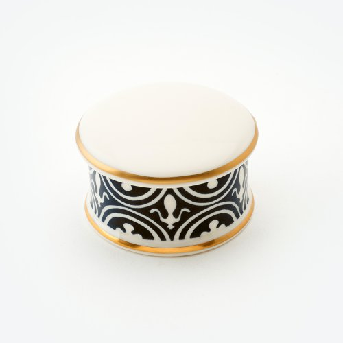 FLUE DE LYS BLACK TRINKET BOX