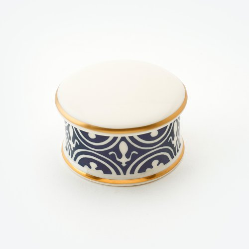 FLUE DE LYS MIDNIGHT BLUE TRINKET BOX