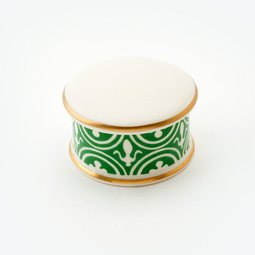 FLUE DE LYS GREEN TRINKET BOX