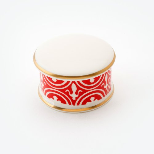 FLUE DE LYS RED TRINKET BOX