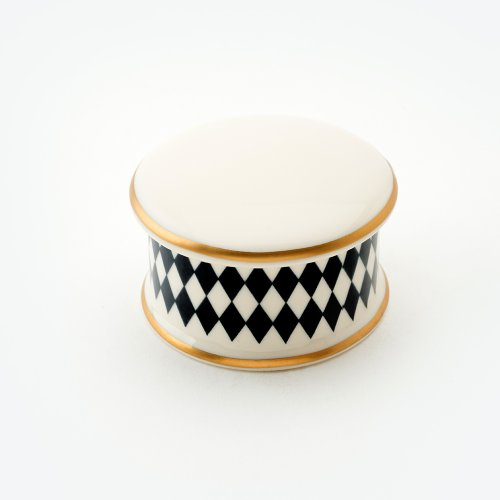 HARLEQUIN BLACK TRINKET BOX