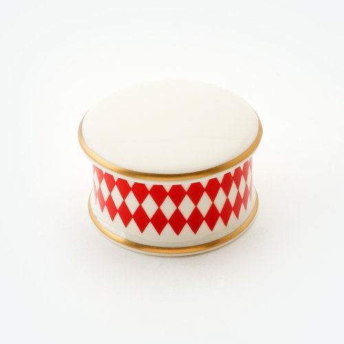 HARLEQUIN RED TRINKET BOX