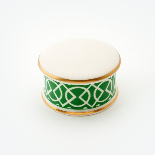 MEDIAEVAL GREEN TRINKET BOX