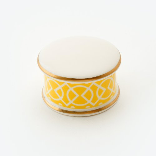 MEDIAEVAL YELLOW TRINKET BOX