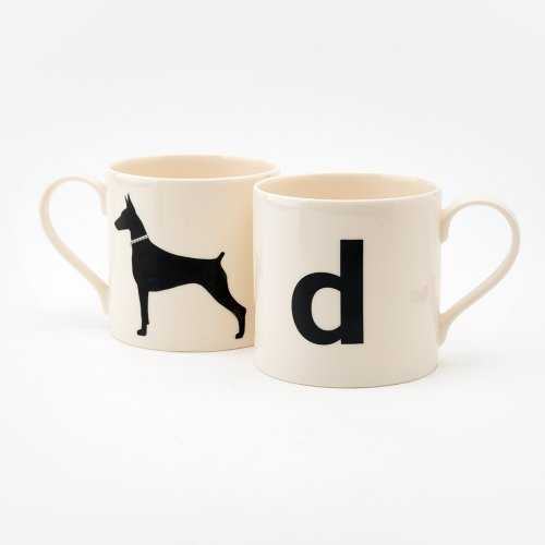 D IS FOR DOBERMAN MUG