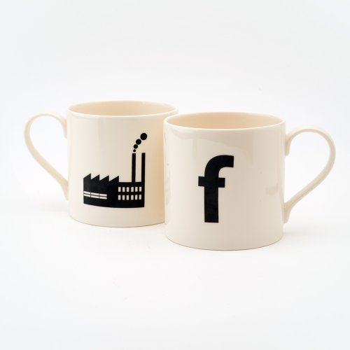 F IS FOR FACTORY MUG