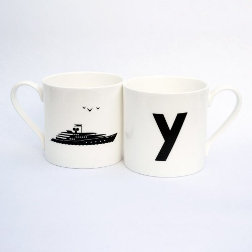 Y IS FOR YACHT MUG