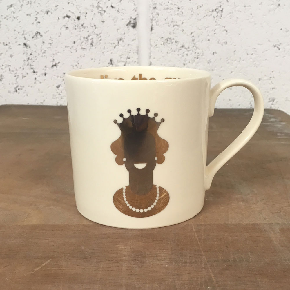 WAREHOUSE SALE! 22 carat God Save The Queen mug