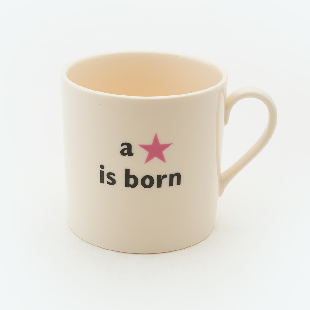 A star is born child's pink mug