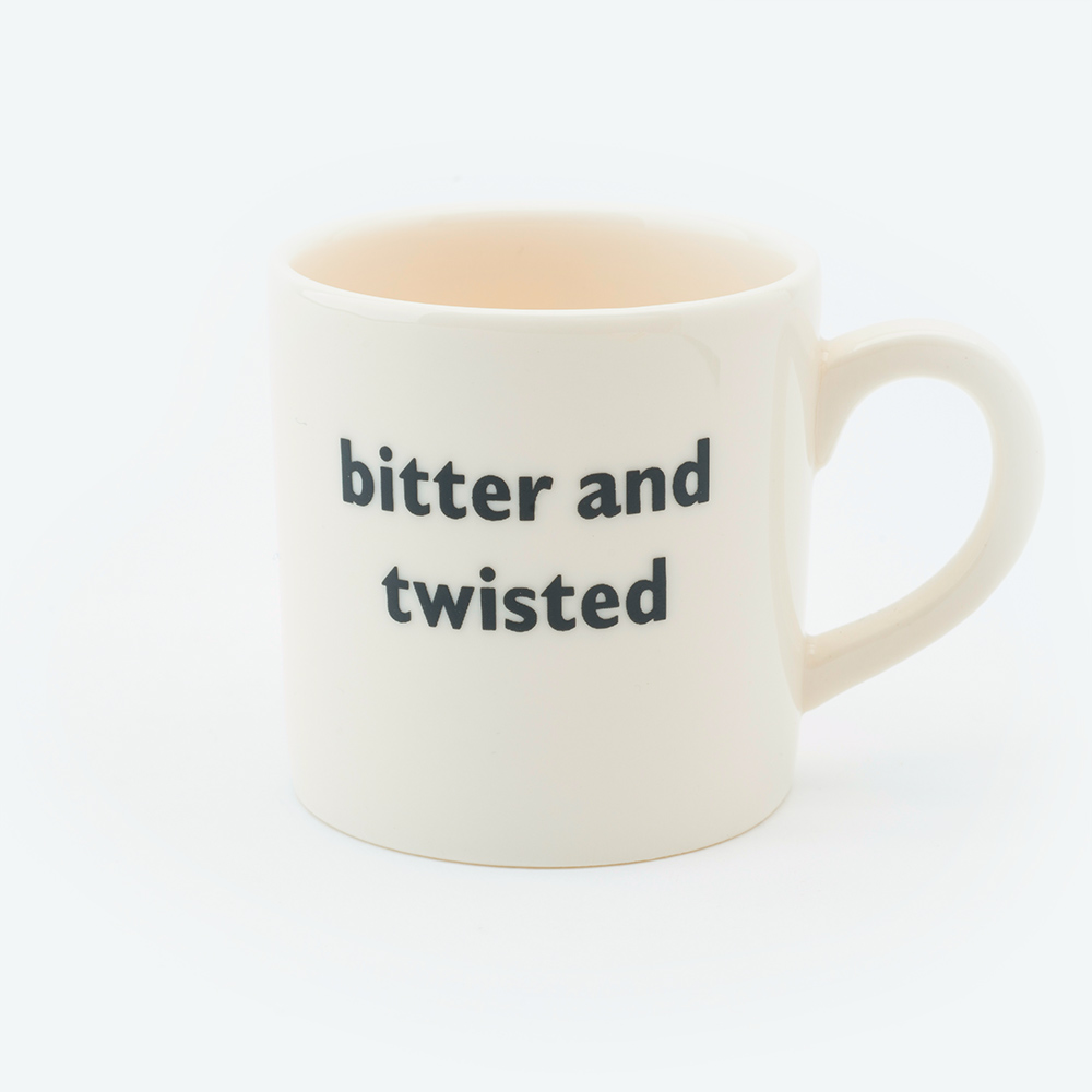 Bitter and twisted espresso cup