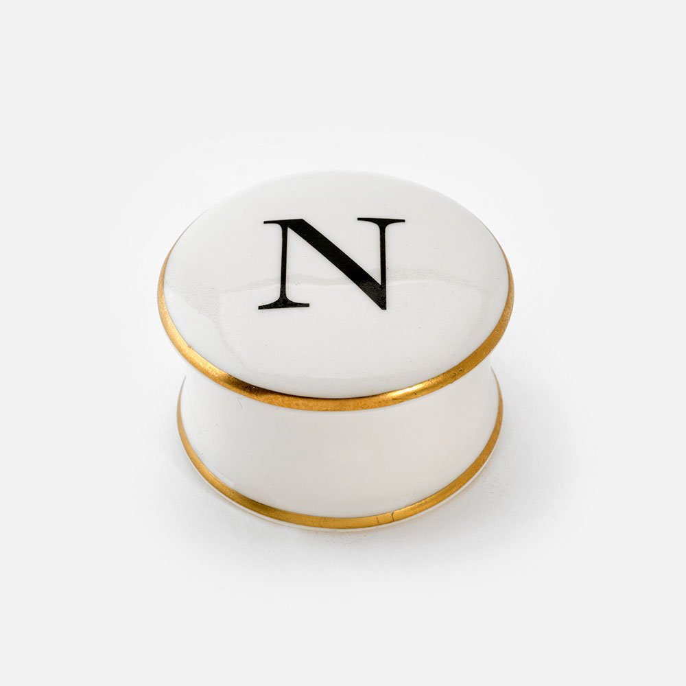 Baskerville Letter N trinket Box